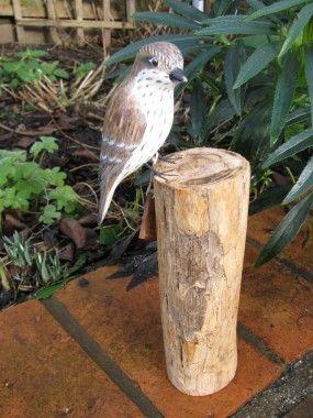 Spotted Flycatcher Carved Bird By Archipelago