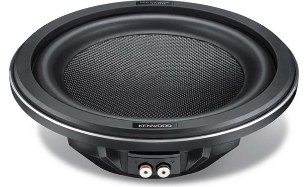 Kenwood Excelon KFC-XW1200F Size12 -inch Impedance4 ohms Cone MaterialCarbon-glass fiber Surround MaterialButyl rubber Ideal Sealed Box Volume (cubic feet)0.8 Ideal Ported Box Volume (cubic feet)0.8 Port diameter inch3 Port length inch 14 Free-AirNo Dual Voice CoilNo Sensitivity91 dB at 1 watt  Frequency Response30 - 700 Hz RMS Power 50-350 Peak Power 1400 Vas (liters)62.69 Fs (Hz)24.8 Qts0.544 Xmax (mm)8.5