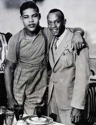 Joe Louis and Jesse Owens (1935) Two great champions!!! Black history folks