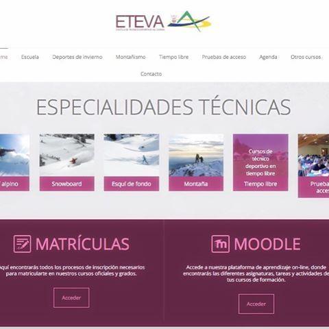 Os presentamos la nueva web de ETEVAwww.eteva.org#formacion #formaciondeportiva…