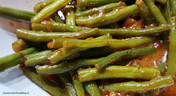 Indonesische sajoer boontjes (Sayur buncis), lekker als bijgerecht! #food #recept #koken #diner #eten