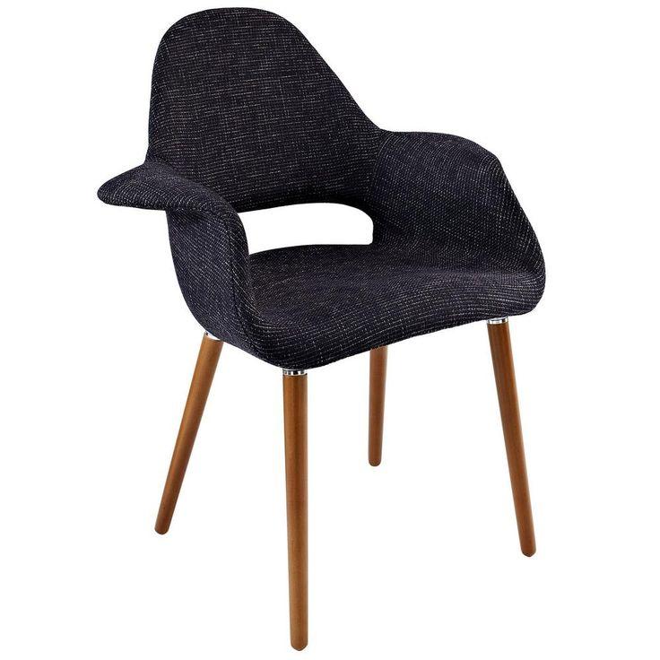 Modway Aegis EEI-555-BLK Mid Century Modern Taupe Keyhole Arm Chair