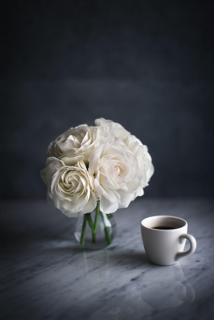Днем рождения, открытка доброе утро белые розы