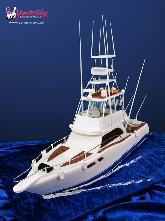 3D Fishing Boat Cake