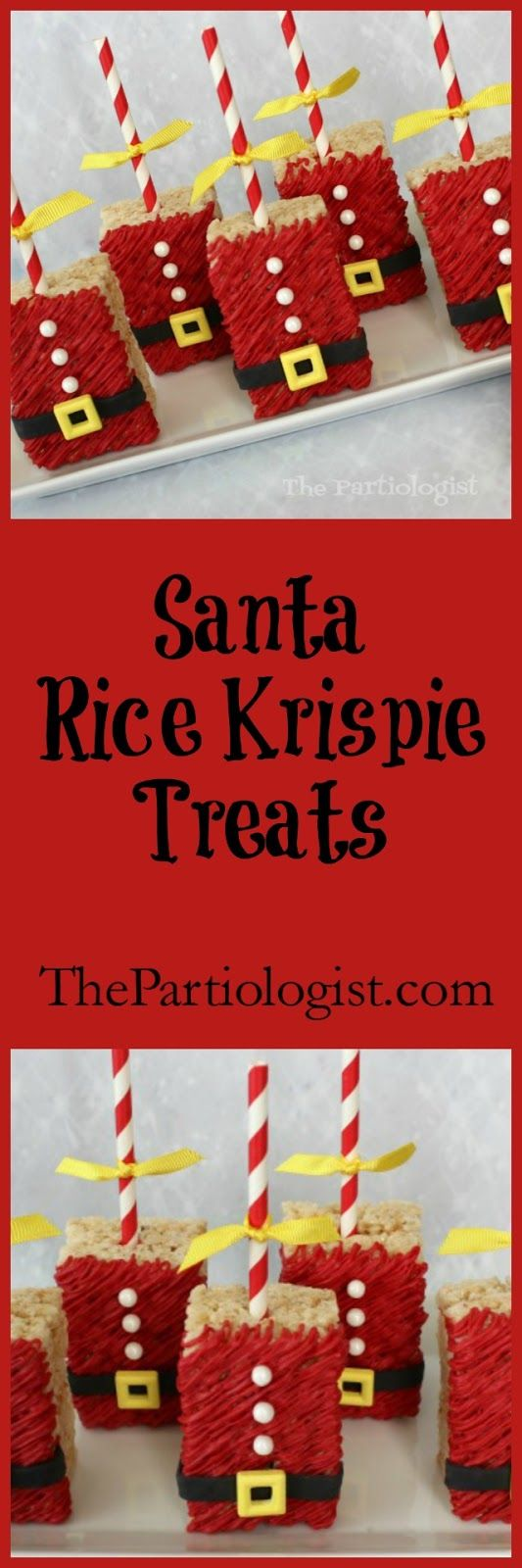 Santa Rice Krispie Treats | The Partiologist - Featured at the Home Matters Linky Party 164