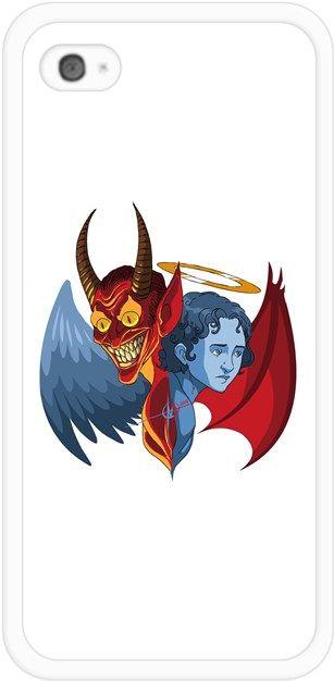 Melekler ve Şeytanlar Kendin Tasarla - İphone 44S Kılıfları