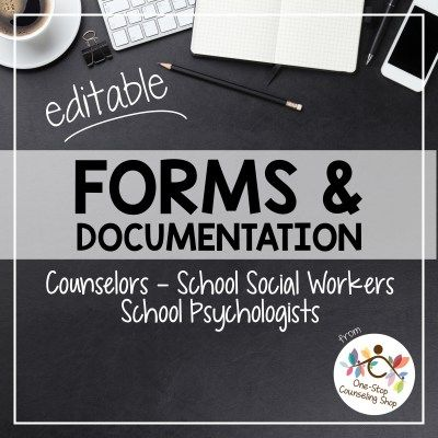 These forms for #counselors, #school #social workers, or school #psychologists are sure to save you time and frustration!