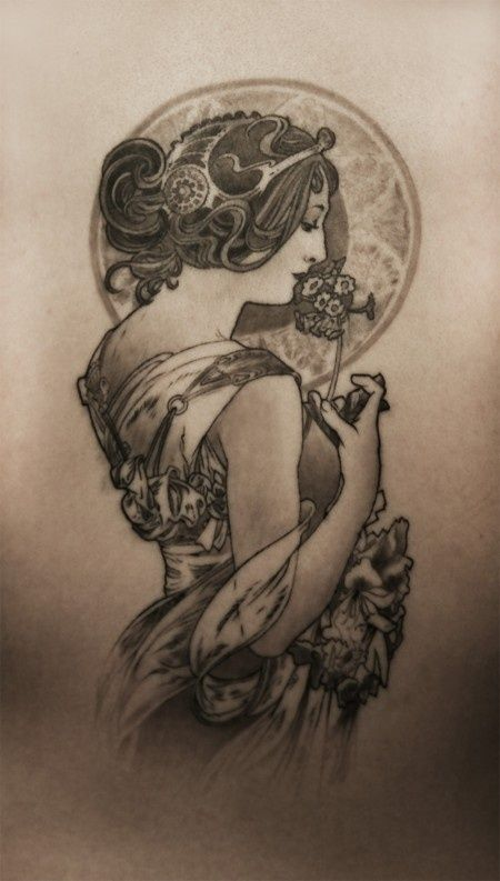 Art Nouveau Tattoo Design By Tegan Ray: 43 Best Mucha Tattoo Inspiration Images On Pinterest
