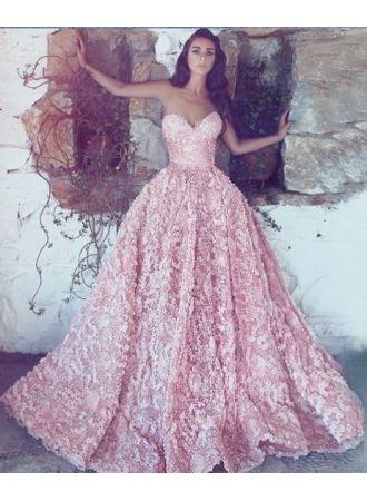 luxus abendkleider lang rosa  spitze abendmoden onlineabendkleiderkleider für besondere