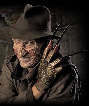 Freddy Krueger's glove - without the glove Freddie would just be a burnt ghost - with it he's terrifying (in the first movie at least).