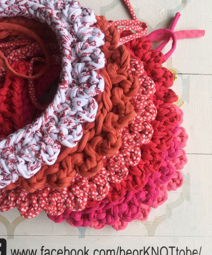 A personal favourite from my Etsy shop https://www.etsy.com/ie/listing/528150606/reds-pinks-fabric-crochet-collar