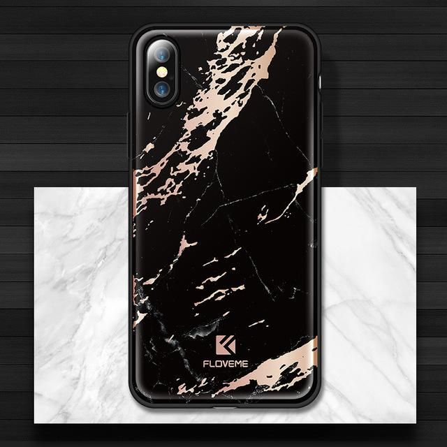 Luxury Marble Case For iPhone X 8 7  6 Plus Ultra Thin Patterned - Kaptelli Store