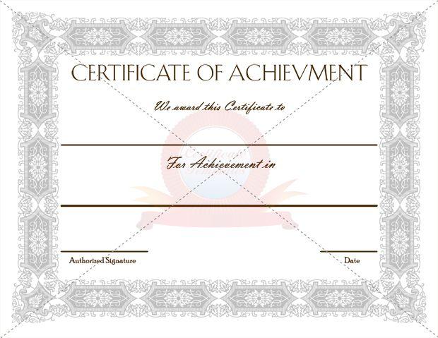 27 best Achievement Certificate images on Pinterest Certificate