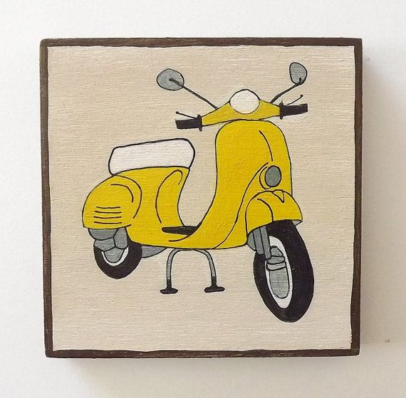 VESPA Original Painting. SHIPPING INCLUDED. Art by Lunartics, €55.00