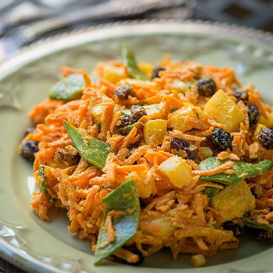 This delicious curry carrot salad is a great dish year round. Bursting with flavor, you will love the combination of pineapple, curry and carrots.