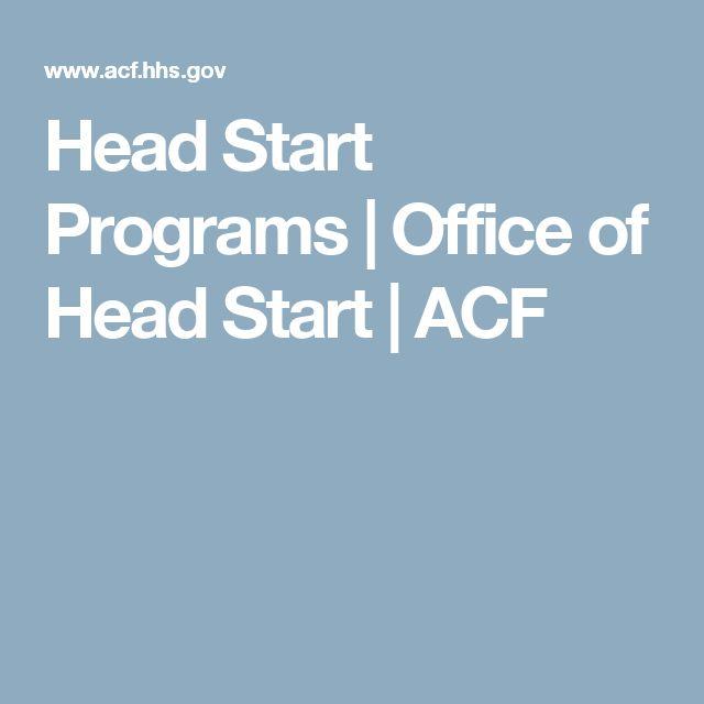 Head Start Programs | Office of Head Start | ACF