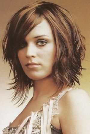 short layered for round face with bangs | Long layered hairstyles with bangs for round faces pictures 4