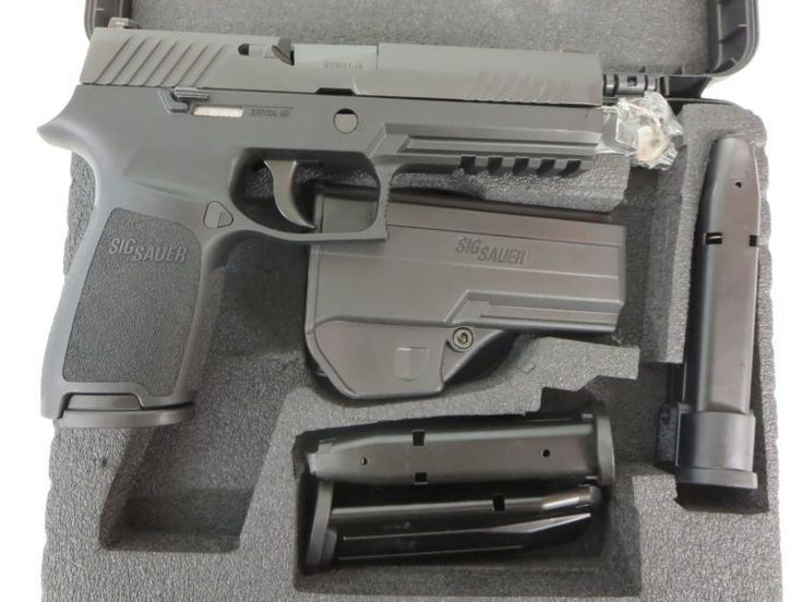 On Consignment:  Sig Sauer P320 Full Size 9mm w/ night sights, case, 3 extra magazines $595 - http://www.gungrove.com/on-consignment-sig-sauer-p320-full-size-9mm-w-night-sights-case-3-extra-magazines-595/