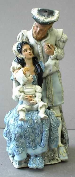 Redmond Porcelain, Henry VIII, Anne Boleyn, and baby Elizabeth.