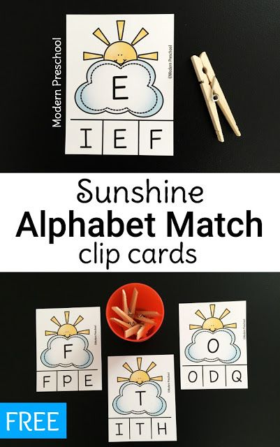 FREE alphabet recognition upper case letter matching printable fine motor activity for preschoolers, toddlers, and kindergarteners from Modern Preschool!