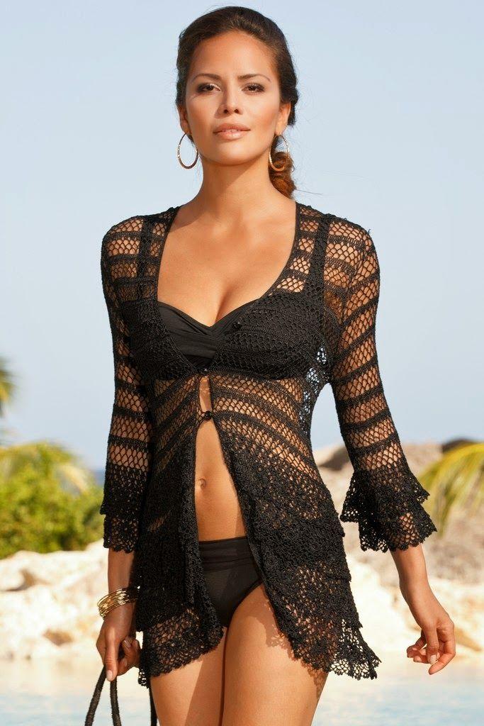 Crochet Tops/Cover Ups ~ Diagrams/Charts Only | Inspirações de Croche com Any Lucy: Saída de Praia