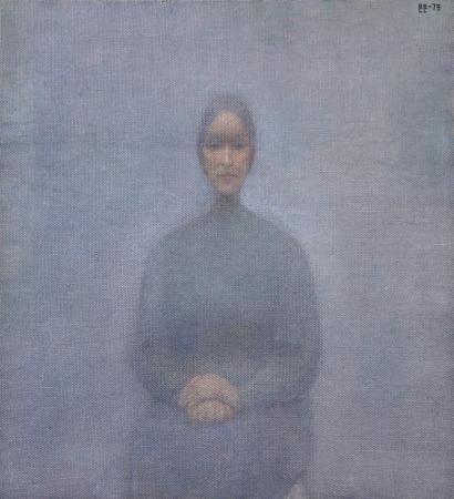 Vladimir WEISBERG(1924-1985) Untitled, 1979 Oil on canvas, monogrammed in Cyril