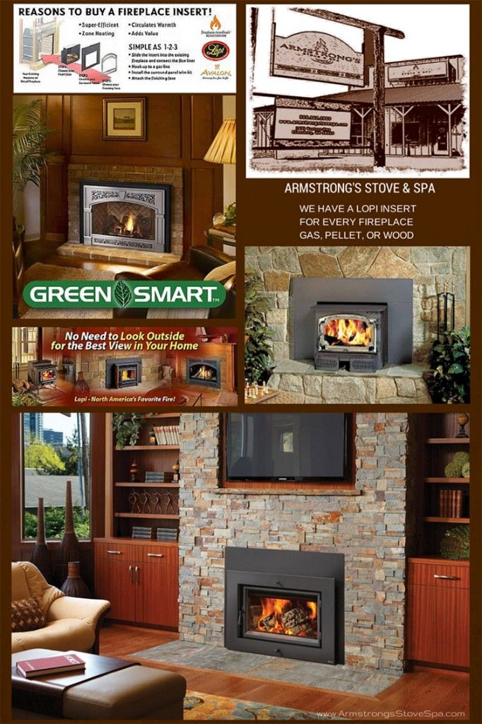 Don't let all your heat go up the chimney! Check out the wide variety of Lopi fireplace inserts in our showroom!
