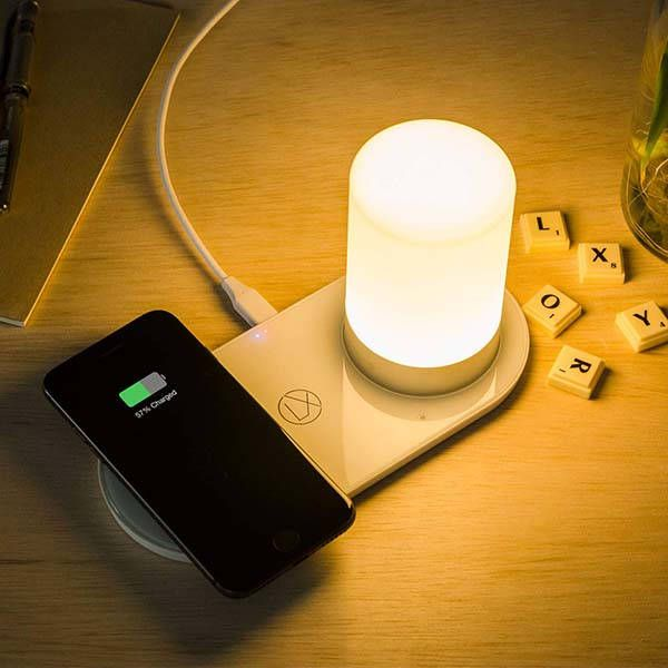Lxory Wireless Charging Pad With Led Mood Lamp Gadgetsin Wireless Charging Lamp Mood Lamps Wireless Charging Pad