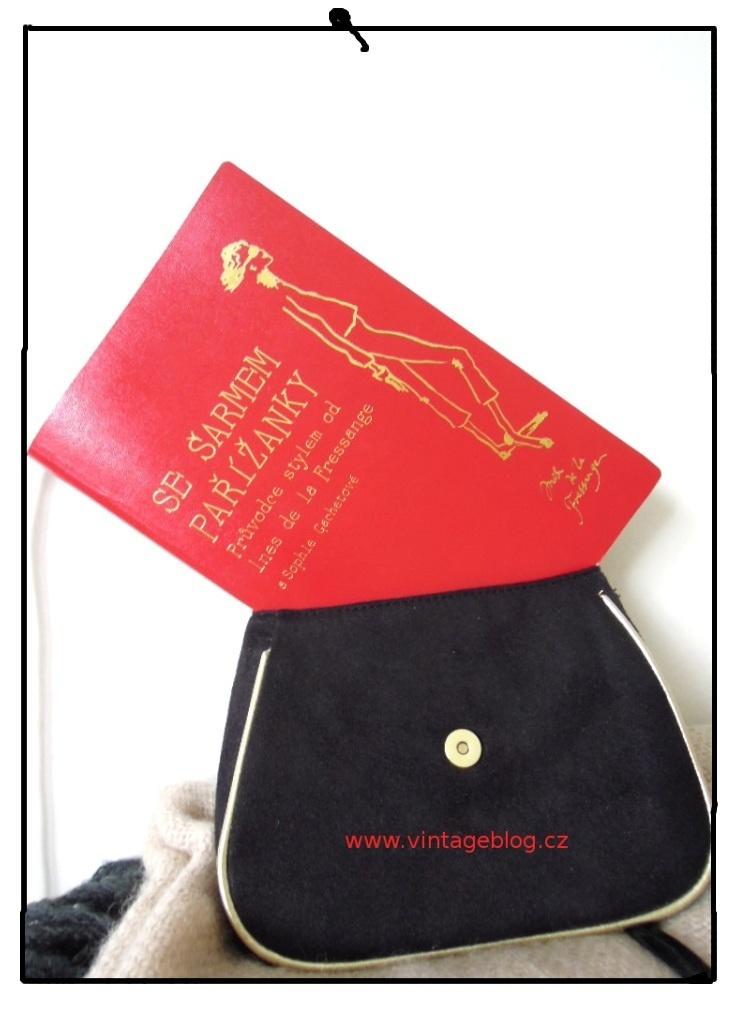 vintage kabelka, knížka Se šarmem Pařížanky   www.vintageblog.cz