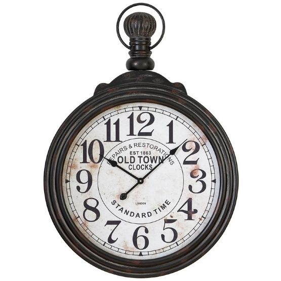 aspire home accents large pocket watch style wall clock 28 in wide