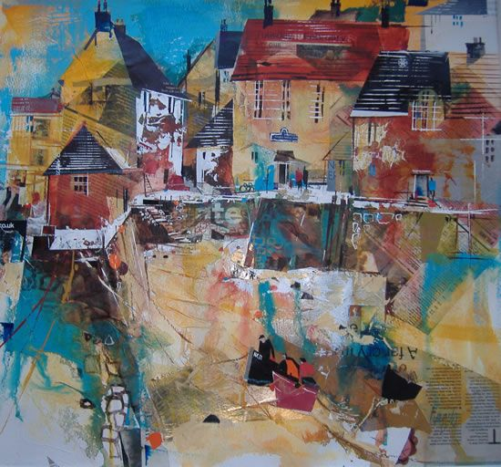 Polperro Quay by Surrey Artist Nagib Karsan (Cranleigh Art Group, Dorking Art Group & Guildford Art Group)