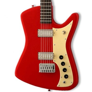 "One of the early ""student"" guitars found in North American Catalogs in the 1960s. This model was available under the brands of Airline, Supro, Kay and many others. This new Eastwood release is based o"