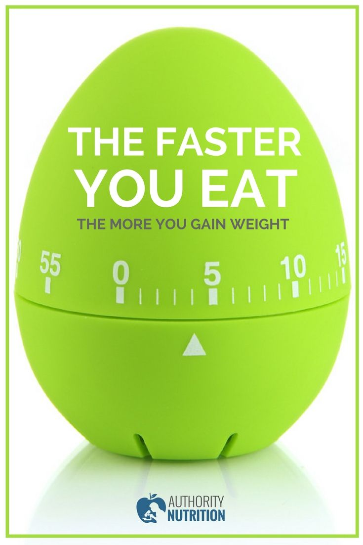 Eating fast is a habit that can cause a lot of health issues, especially weight gain. Simply slowing down when eating could help you lose weight. Learn more here: https://authoritynutrition.com/eating-fast-causes-weight-gain/