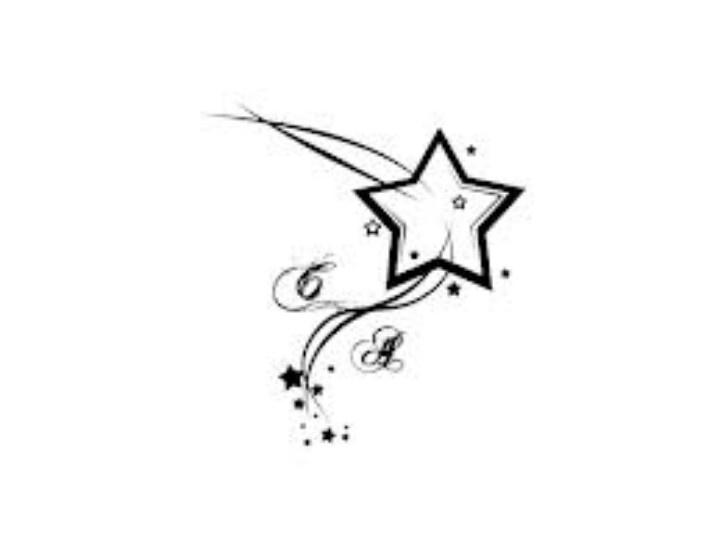 Star amp Initials Tattoo Cute Tattoos Pinterest