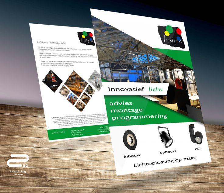 Ontwerp Promotie folder Lichtpunt | Zero Fifty Design
