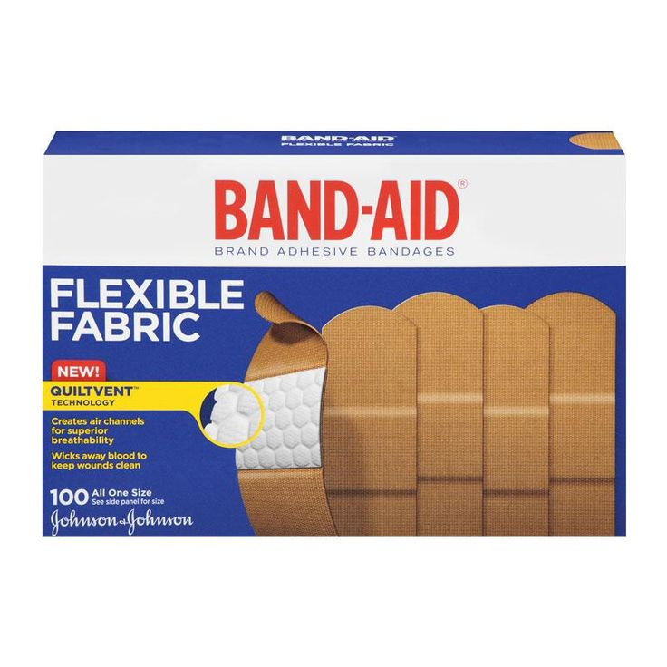 BAND-AID Brand Flexible Fabric Adhesive Bandages, 100 Count