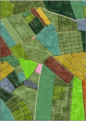 Rug designs based on aerial landscape views,Liz Eeuwes