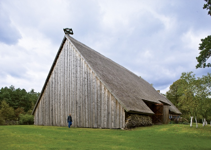 There Is A Barn Fitting To The Side Of House Old Wooden Cabin And