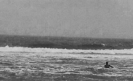 Black and white Surfer girl
