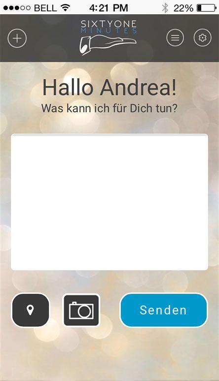 Screenshot Sixtyone Minutes App Homescreen