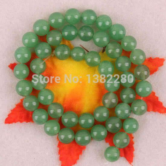 8 мм зеленый авантюрин круг без тары бусины 15,5  2 piece/lot ювелирные изделия JT6334