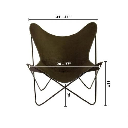 Butterfly Chairs: Butterfly Chair (cover & frame) - Canvas Style - Potted Los Angeles