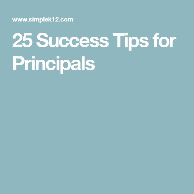 25 Success Tips for Principals