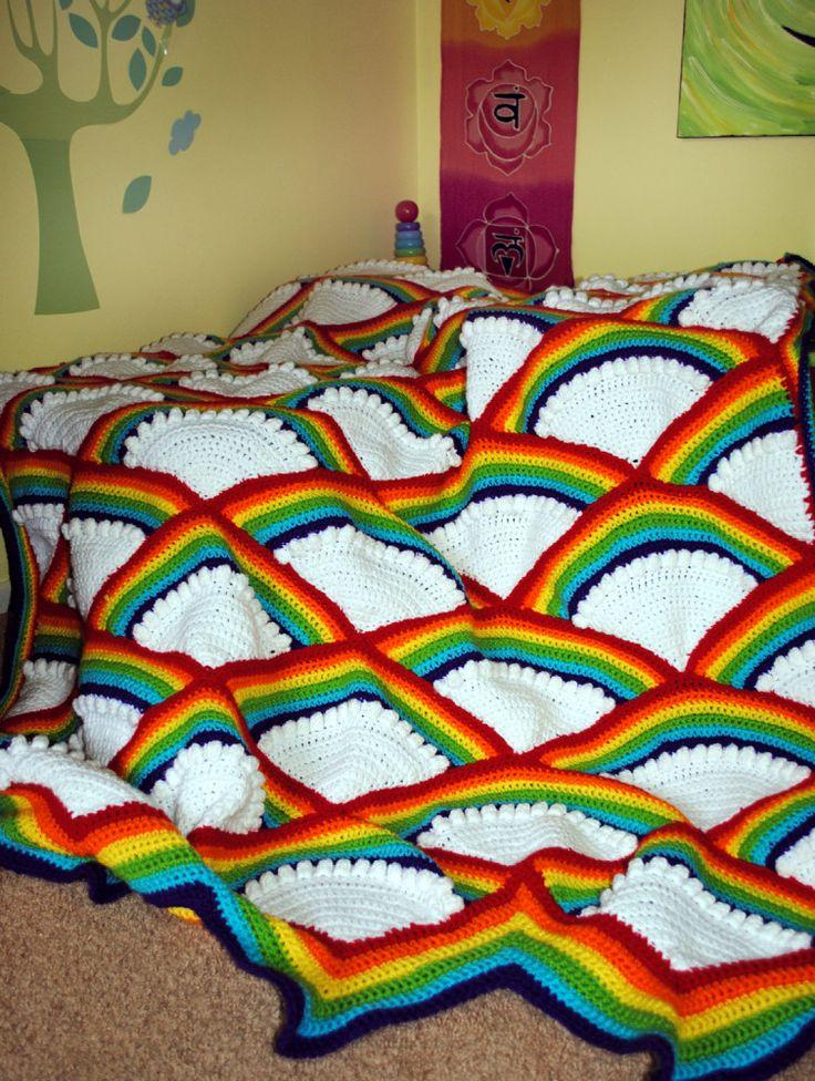 17 Best ideas about Rainbow Afghan on Pinterest Rainbow ...