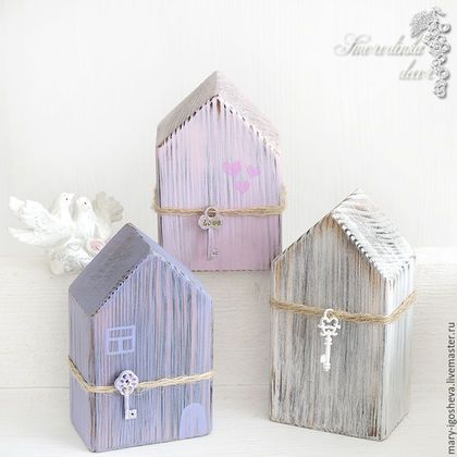 Элементы интерьера ручной работы. Ярмарка Мастеров - ручная работа. Купить Интерьерные домики из дерева. Handmade. Домики, уютный интерьер