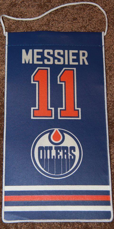 Mark Messier Edmonton Oilers Retirement Banner