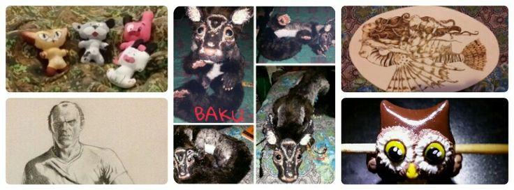 Collage di alcuni dei miei lavori - cercatemi su Facebook Mabi Ma ciao!