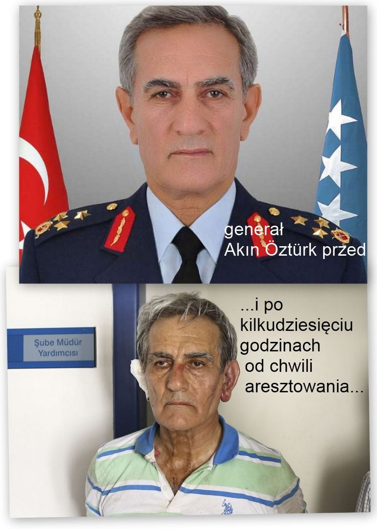 """Former Turkish air force chief Akin Ozturk has ""confessed"" to prosecutors his role in plotting TO topple the government over the weekend in a coup that ultimately failed, state-run Anadolu Agency said on Monday. Ozturk was quoted as having told interrogators that he ""acted with intention to stage a coup""..."" - źródło: ""Al Jazeera"", ""Reports: Turkey air chief 'confesses' to coup plot"" (…"