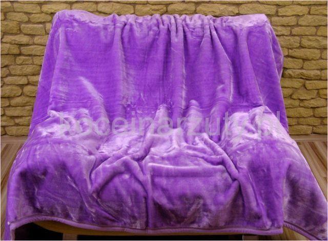 Koc akrylowy 160x210 w kolorze fioletowym