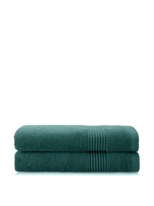 53% OFF Chortex Ultimate Set of 2 Bath Sheets, Deep Green